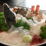 小豆島で捕れたお魚で活け作り